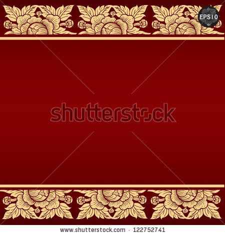 Thai art background, Vector