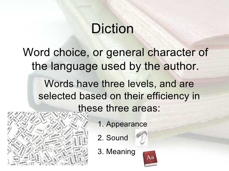 Examples of diction literaryelements literarytechniques for Concrete diction