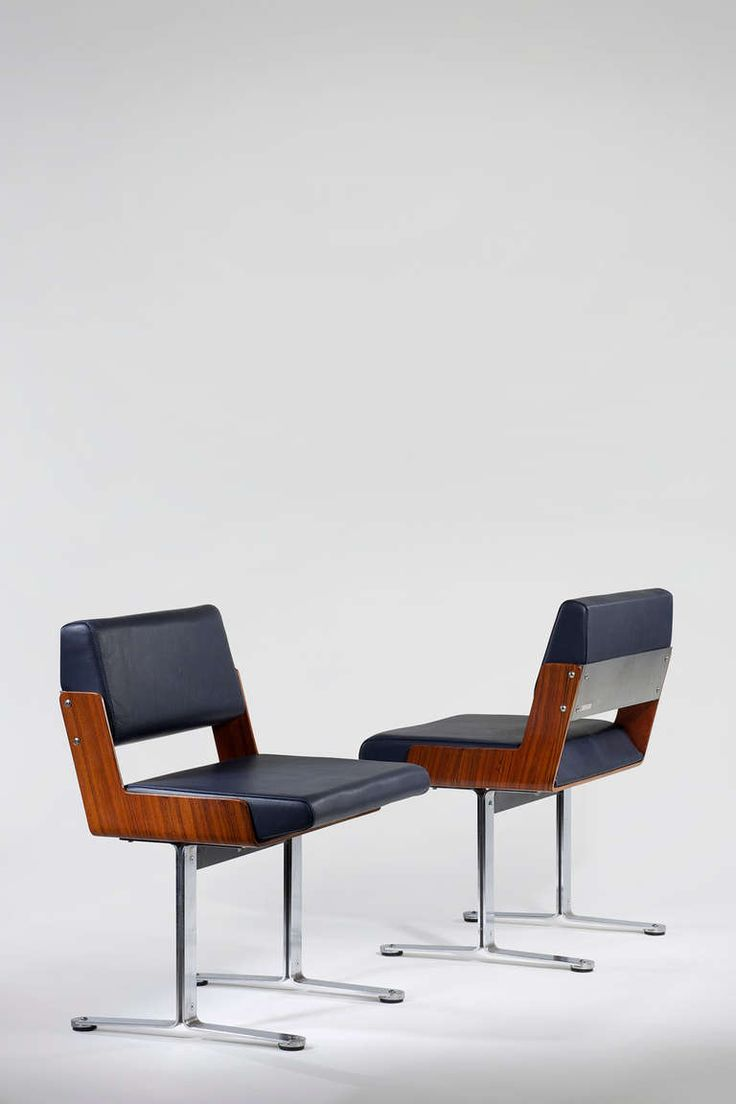 Pair of 1960s Chairs by Roger Tallon