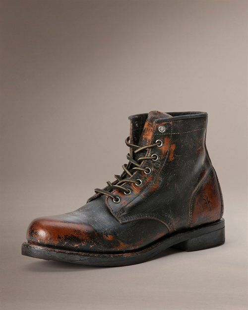 Arkansas Mid Lace boots by The Frye Company - inspired by a traditional work boot