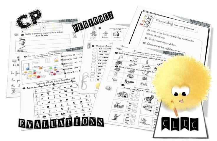 Evaluations CP période3 lecture, écriture et mathématiques…