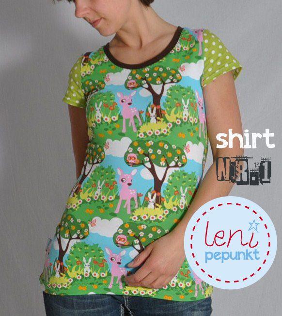SHIRT Nr. 1 • T-Shirt • Nähanleitung + Schnittmuster • leni pepunkt • DIY • easy • sewing pattern • tee