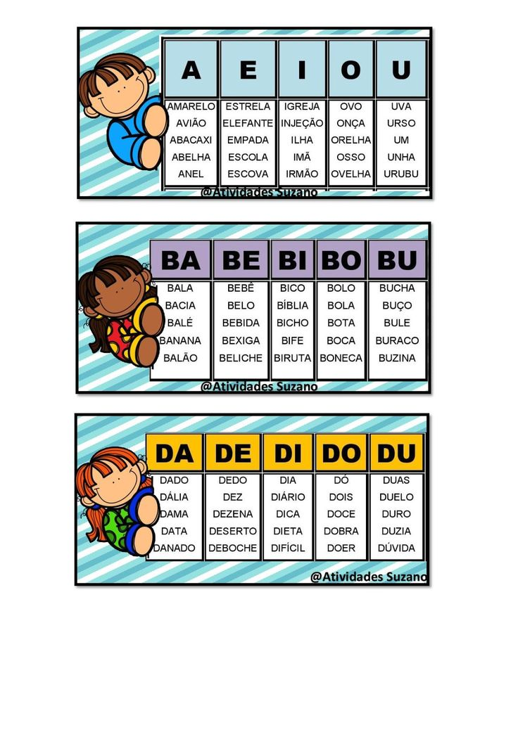 Ficha de leitura vogais B C