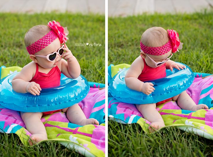 summer photography session 6 month old baby girl Friendswood,Tx Sarah Victoria Photography