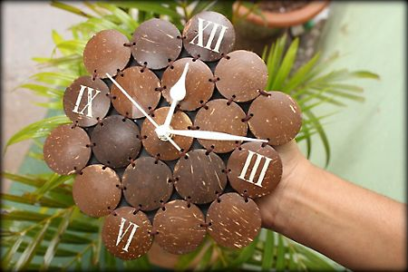 #Coconut Shell Clock
