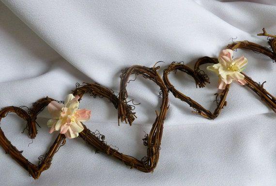 Rustic Wedding Garland, Reception Decorations, Fall Wedding Decor, 5ft on Etsy, $60.75 CAD