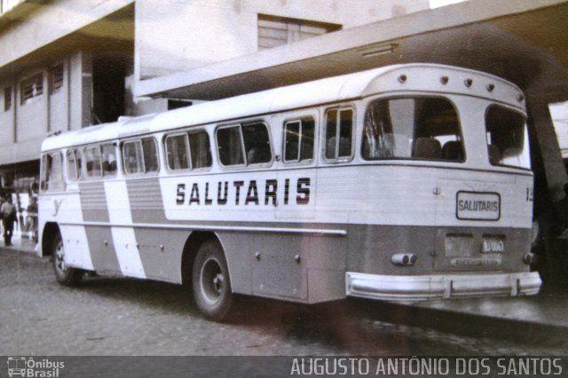 Ônibus da empresa Viação Salutaris e Turismo, carro 1337, carroceria CAIO Jaraguá, chassi Scania B75. Foto na cidade de - por AUGUSTO ANTÔNIO DOS SANTOS, publicada em 16/08/2016 20:01:04.