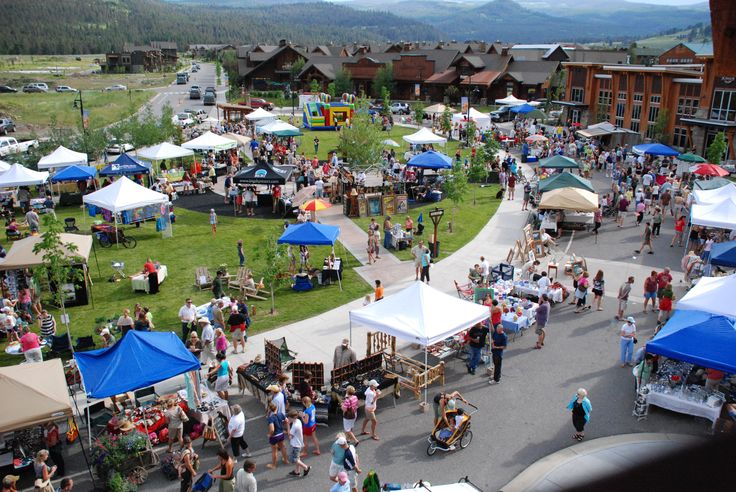View of the Big Sky Farmers Market from atop the Market Place Building