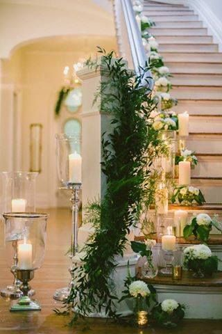 If your bride's venue has a staircase, it should look this fabulous~Style Me Pretty