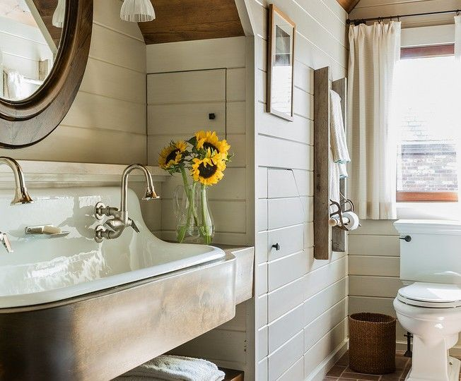Farmhouse Bathrooms Fixer Upper Round Mirrors And