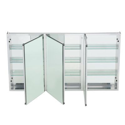 Pegasus 48 in. x 26 in. Recessed or Surface Mount Medicine Cabinet in Tri-View Beveled Mirror-SP4588 - The Home Depot