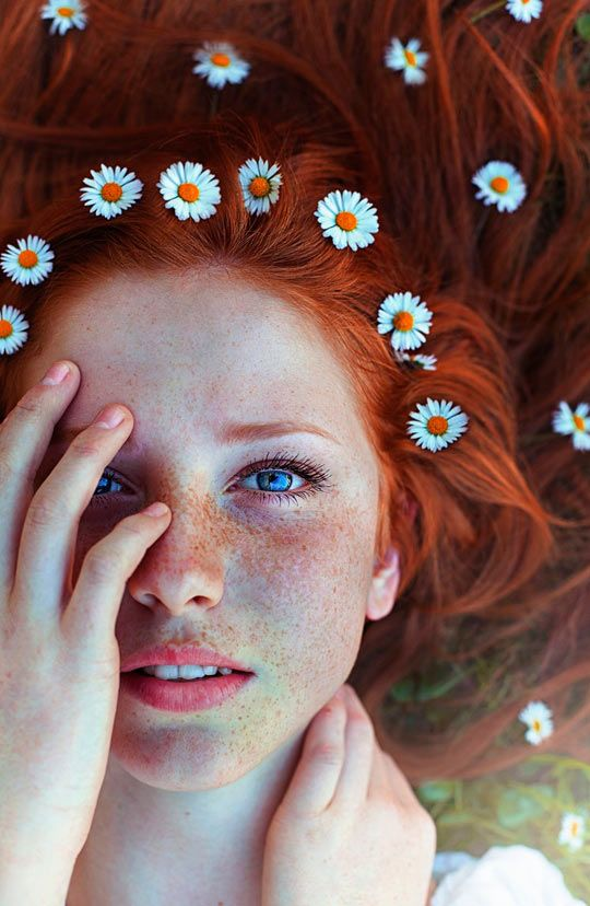 Love the flowers and laying down - just not planning to do as dramatic of a shot - love this for Lauren