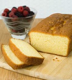 Gluten Free Pound Cake | Gluten Free Recipes | Cake | Simply Gluten Free - I subbed out the sweet rice flour for sorghum flour. Still tasted great.