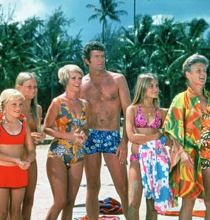 Hawaii episode, the family watching Greg in the surfing competition. I must say I love Mike's swim trunks.
