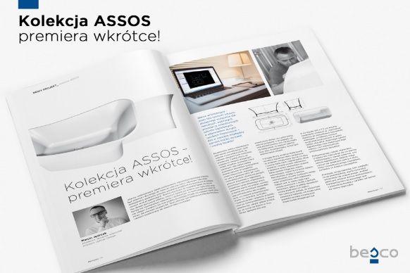 Kolekcja ASSOS- pierwszy projekt we współpracy Besco, z Marcinem Jędrzakiem- uznanym projektantem wyposażenia łazienek.