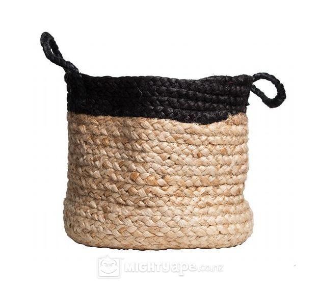 General Eclectic Hemp Basket Large (Black)