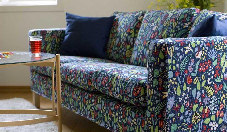 stig lindberg fabric pattern herbarium