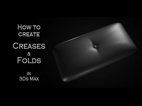 Tutorial: How to model creases and folds on leather in Autodesk 3Ds Max - YouTube