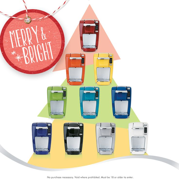 Enter our Keurig Merry & Bright Pinterest Sweeps for a chance to win one of 10 colorful Keurig K10 Personal Coffee Makers! Enter here > http://qvc.co/KeurigRules