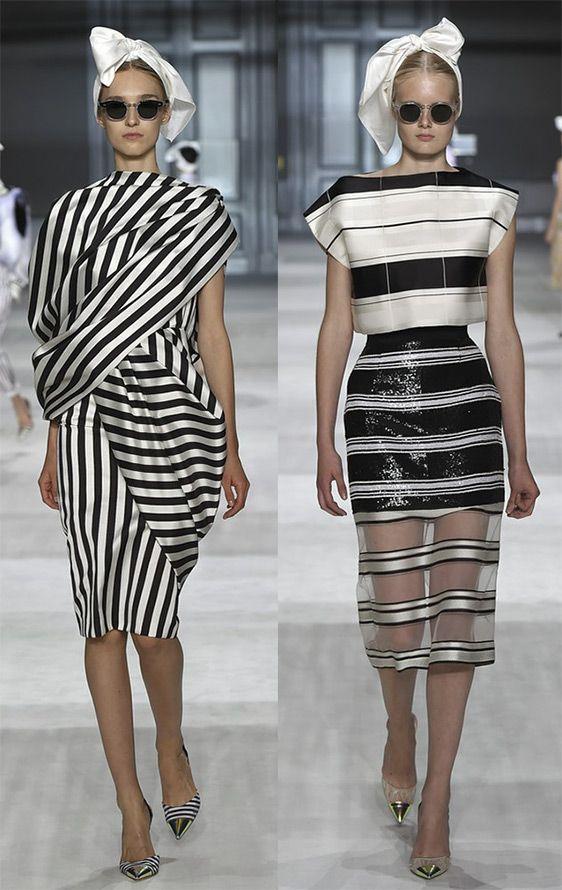 Самые красивые черно-белые платья из коллекций осень-зима 2014-2015.