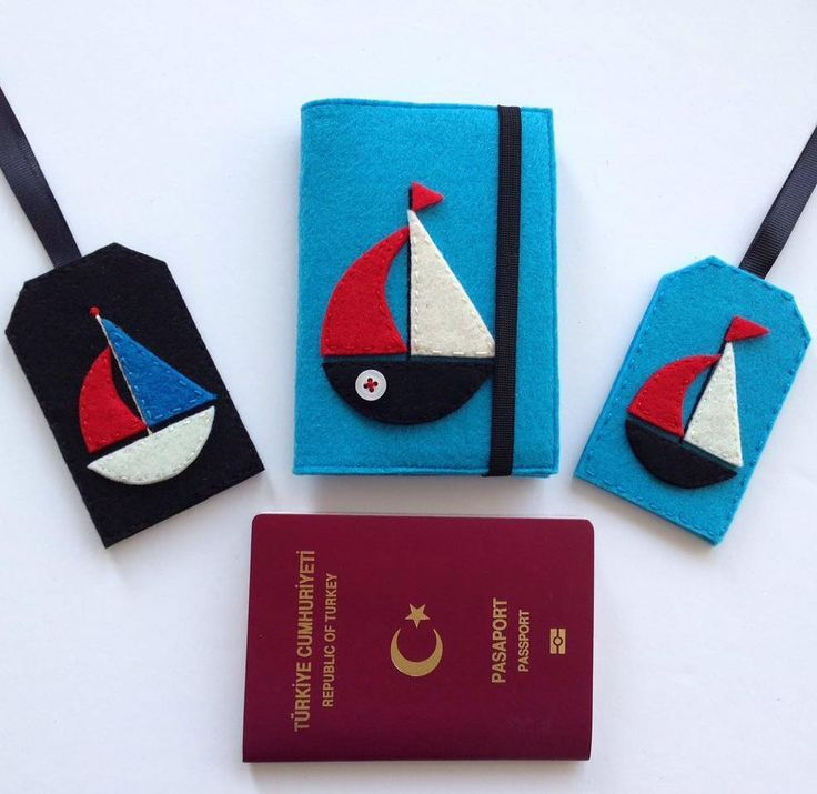 Pasaport kılıfı & Bagaj etiketi Whatsapp 0545 839 41 10 #felt#passportcase#luggagetags#sailboat#sea#holiday#travel#airport#airplane#gift#handmade#cute by atolyenes
