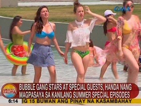 Bubble Gang stars at special guests, handa nang magpasaya sa kanilang summer special episodes - WATCH VIDEO HERE -> http://philippinesonline.info/aldub/bubble-gang-stars-at-special-guests-handa-nang-magpasaya-sa-kanilang-summer-special-episodes/   Unang Balita is the news segment of GMA Network's daily morning program, Unang Hirit. It's anchored by Rhea Santos and Arnold Clavio, and airs on GMA-7 Mondays to Fridays at 5:15 AM (PHL Time).  For more videos from Una
