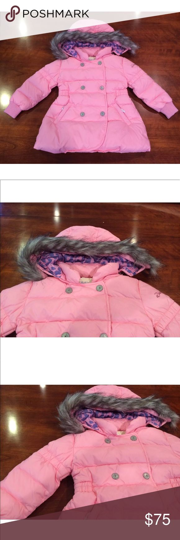 NWT***Pink DIESEL Coat Age 2 DIESEL- Gorgeous pink coat for a beautiful little princess. Size: Age 2 Hood is removable and fur is also removable. Diesel Jackets & Coats Puffers