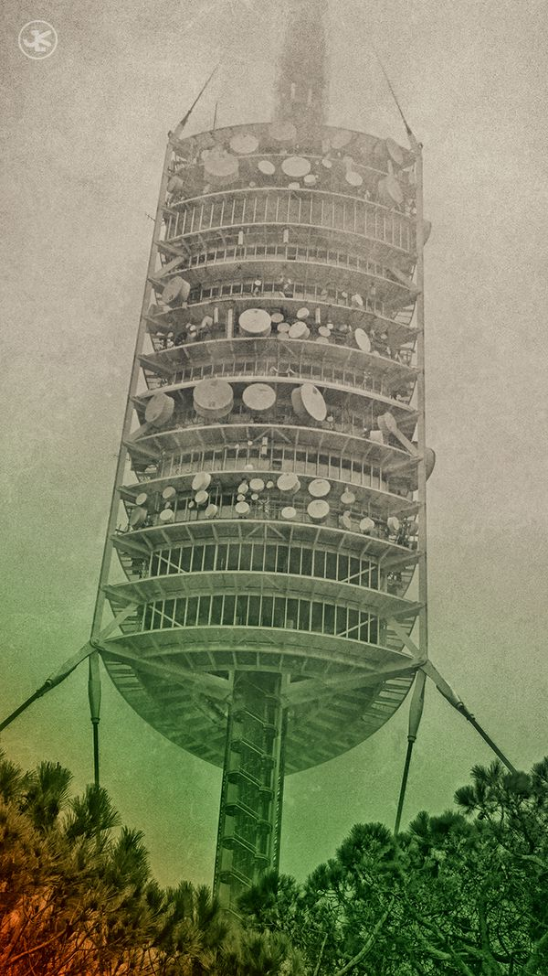 The Torre de #Collserola watches silently over #Barcelona. www.julianluskin.com