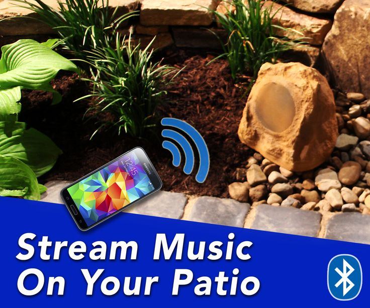 #Bluetooth Rock Speakers For Your #backyard. Stream Music On Your #Patio.  Wireless ...