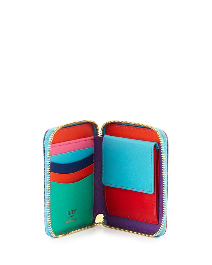 Patch Iphis Small Square Zip Wallet, Multicolor