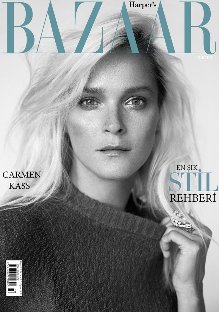 Carmen Kass on Harper's Bazaar Turkey October 2015 cover #girlcrush