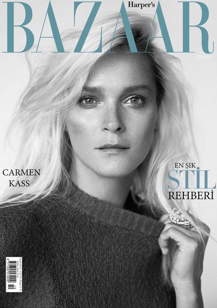 Carmen Kass on Harper's Bazaar Turkey October 2015 cover