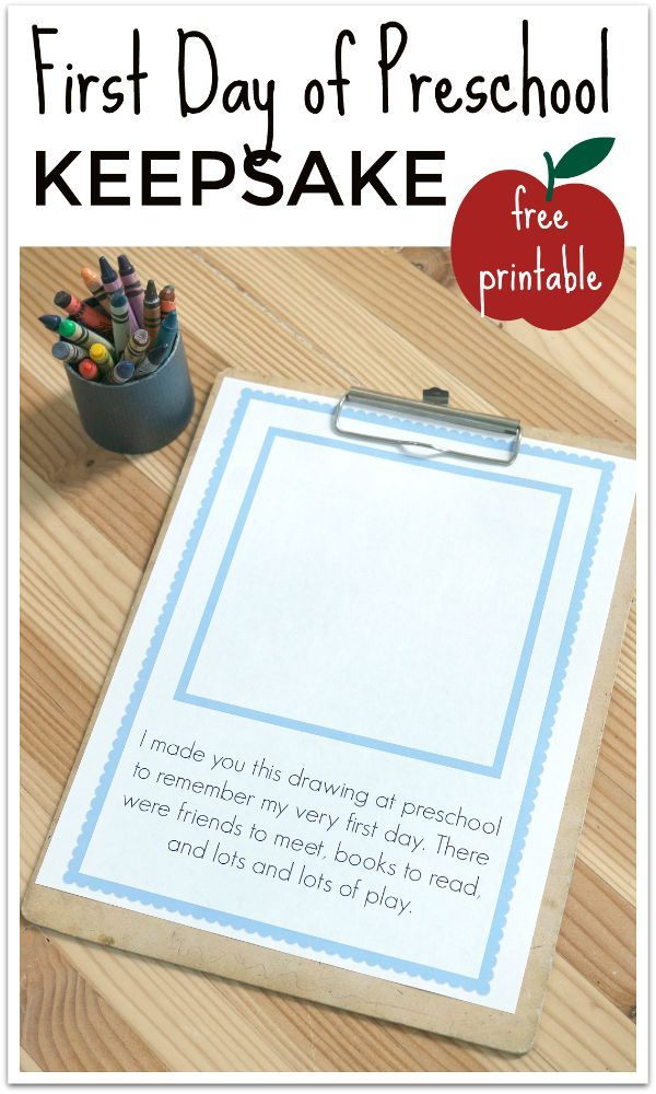 FREE printable first day of preschool keepsake and some great tips for how to start the year right!