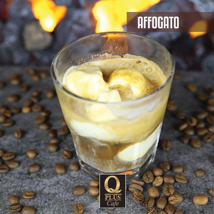 Dondurma üzerine sıcak espresso dökülerek yapılan muhteşem lezzet; Affafato! #Qpluscafe #Affagato