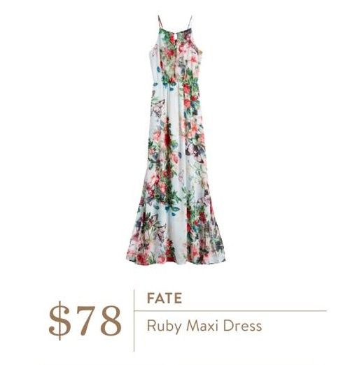 This maxi is stunning. Love the floral and flowy. Could dress it down with a jean jacket (which I have)