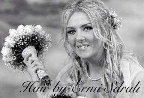 Romantic Wedding Hairstyle For Medium/Long Hair With Flowers Hair by ermi Sdrali @Hairmine #style #wedding #bride #love #awesome #romantic #flowers #bestdayofmylife www.hairmine.gr