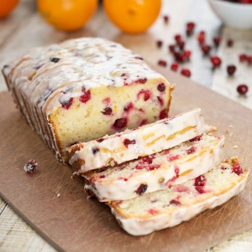 Orange-Cranberry Yogurt Loaf by sweetpeaskitchen #Loaf #Cake #Orange #Cranberry