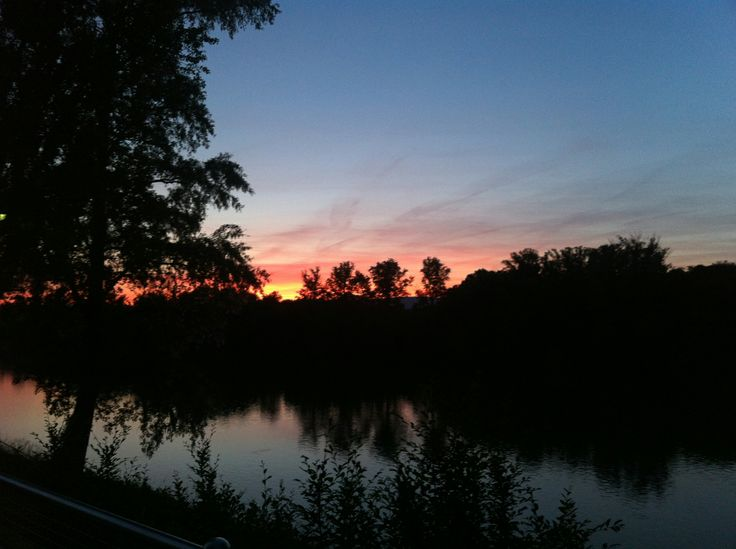 Sunset am Bootshaus