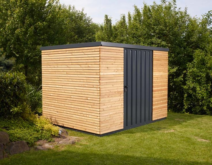 gartenhaus mit flexibler holzverkleidung carport. Black Bedroom Furniture Sets. Home Design Ideas