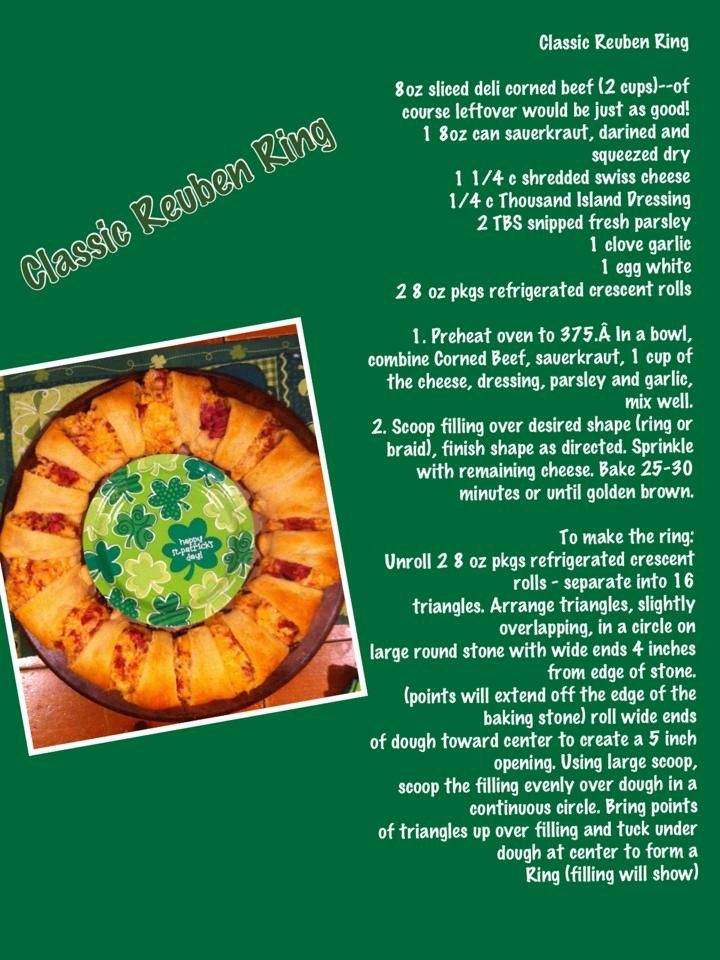 Here Is A Yummy Reuben Ring Recipe Perfect For St