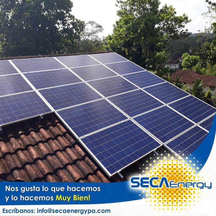 Nos gusta lo que hacemos y lo hacemos muy bien. Cada proyecto es una obra de arte y tecnología que se entrega a su dueño.  Utilizamos los mejores equipos y nos preocupamos por los detalles más mínimos.  Todo sea por la energía solar la más limpia y económica conocida . Por el ecosistema que necesita nuestra ayuda . Por el propietario que se merece lo mejor de lo mejor  www.secaenergypa.com  Tel. (507) 260 4611 (507) 260 7208  #energiasolar #energíasolarpanama #panelsolarpanama…
