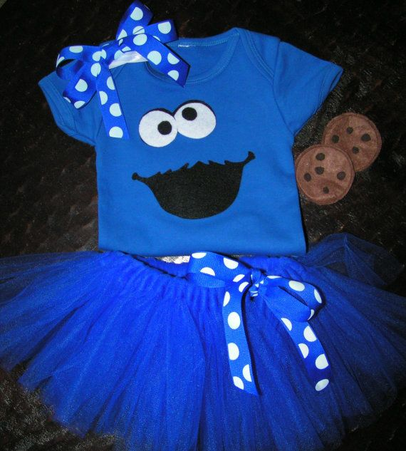 Baby or Toddler Cookie Monster Costume with body by CaptainKidaroo