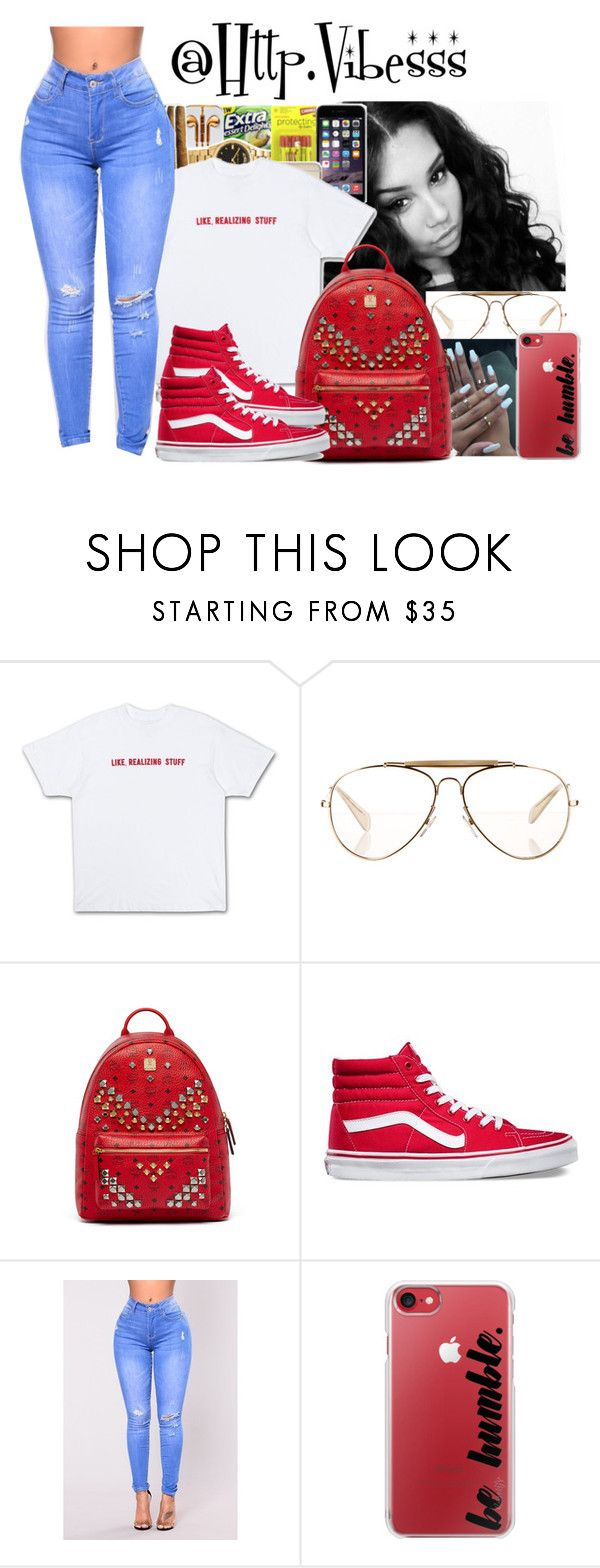 """""""Untitled #1120"""" by jazaiah7 ❤ liked on Polyvore featuring CÉLINE, MCM, Vans and Casetify"""