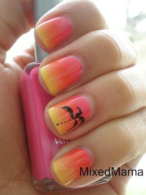 Tropical Sunset NailsNails Art, Sunsets Nails, Nails Design, Palms Trees Nails, Sunset Nails, Palm Trees, Summer Nails, Gradient Nails, Beach Nails