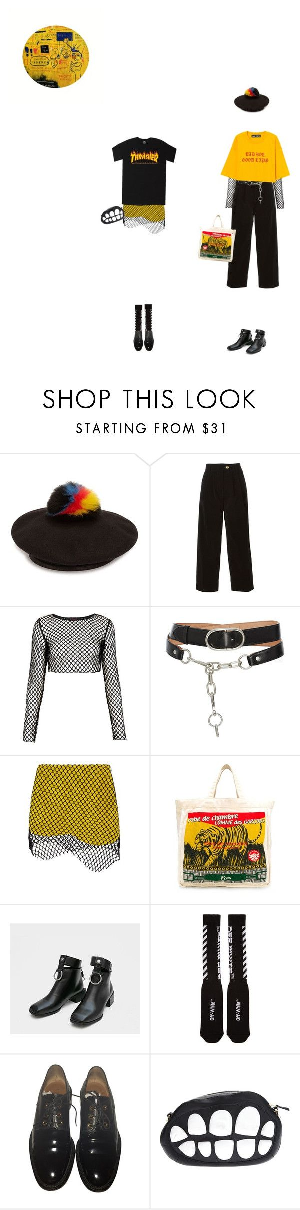 """#366"" by k-ura ❤ liked on Polyvore featuring Eugenia Kim, Forte Forte, Motel, Alexander Wang, Marques'Almeida, Comme des Garçons, Off-White, Givenchy and LARISSA HADJIO"