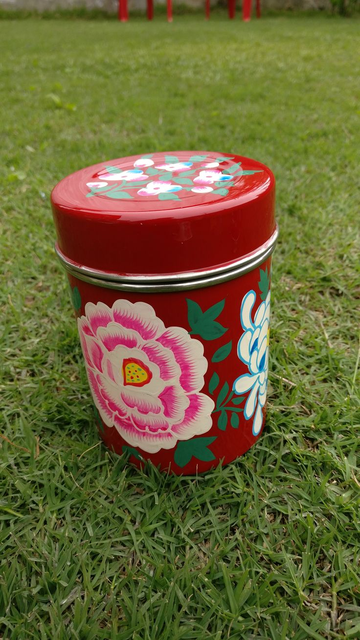 Hand Painted Enamelware storage boxes: A perfect items to enhance your kitchen's decor. These storage boxes can be used to store anything.. from spices to cookies.. A perfect gifting items. Know more; Place orders: chinarartskashmir@gmail.com