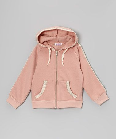 Take a look at this Blush Crochet Zip-Up Hoodie - Infant, Toddler & Girls by Just Fab Girls on #zulily today!