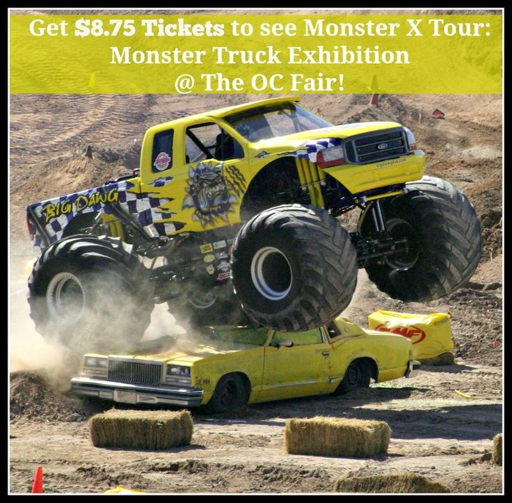 Do you personally love cars or have a car fanatic in your family?  Then take them to see the Monster X Tour: Monster Truck Exhibition at the OC Fair this summer!  Tickets are only $8.75.  What a deal! #ocfair #monsterxtour #affiliate