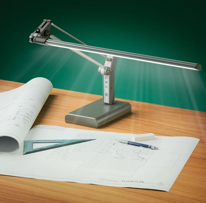 This Is The LED Task Lamp That Mimics Natural Daylight To Reduce Glare And  Eyestrain.