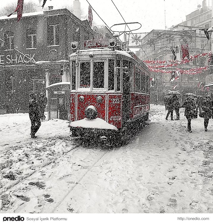 İstanbul and snow.